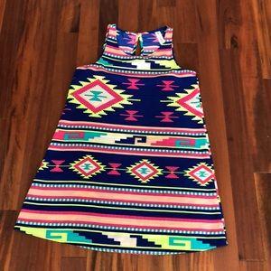 Vibrant neon colored Vanilla Bay Women's Dress.